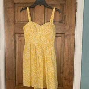 Yellow/white sundress Lilly Pulitzer